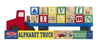 Wooden Alphabet Block Truck at Little-Minnows.com