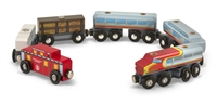 Wooden Train Cars Set available at little-minnows.com
