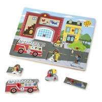 Around the Firehouse Firetruck Firefighter Puzzle