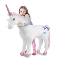 Unicorn Jumbo Stuffed Animal Available at Little-Minnows.com