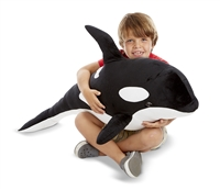 Orca Giant Stuffed Animal Available at Little-Minnows.com