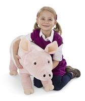 Pig Lifelike Stuffed Animal Available at Little-Minnows.com