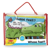 Soft Activity Book Whose Feet at Little-Minnows.com