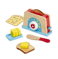 Bread & Butter Toast Play Food Set at Little-Minnows.com