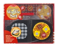 Wooden Press and Serve Waffle Set at Little-Minnows.com