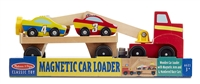 Wooden Magnetic Car Loader Toy Set Available at www.little-minnows.com