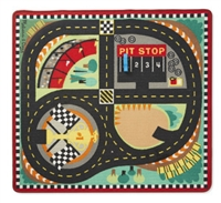 Round the Speedway Race Track Rug & Car Set Available at Little-minnows.com