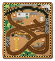 Round the Construction Zone Work Site Rug & Vehicle Set Available at Little-minnows.com