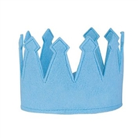 Boys' Adjustable Light Blue Felt Crown at Little-Minnows.com