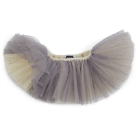 Girls' Reversible Ivory Silver Mesh Tutu Skirt at Little-Minnows.com
