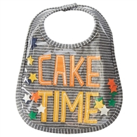 Cake Time Birthday Bib at Little-Minnows.com