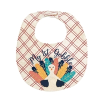 "Babys ""My 1st Gobble"" Bib Available at Little-Minnows.com"