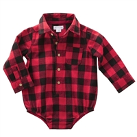 Baby Boys' Buffalo Check Flannel Crawler at Little-Minnows.com