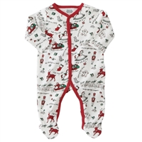 Very Merry Red Trim Sleeper at www.little-minnows.com