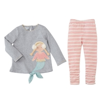 Girls' Mermaid Tunic and Legging Set www.Little-Minnows.com