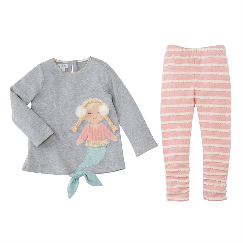 df3704aa9 Girls  Mermaid Tunic and Legging Set available at Little-Minnows.com