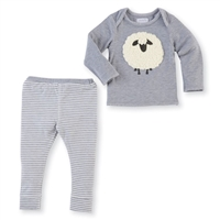 Babys' Gray Sherpa Sheep Set at Little-Minnows.com