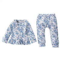 Girls' Floral Ruffle Two-Piece Set at www.little-minnows.com