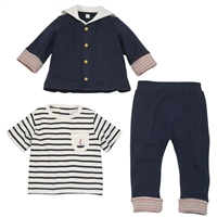 Nautical Sailor 3 Piece Baby Outfitavailable at Little-Minnows.com