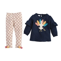 Girls' Turkey Tunic and Legging Set at Little-Minnows.com