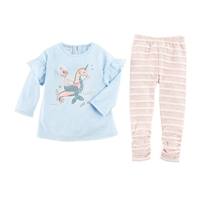Girls' Mermaid Tunic and Legging Set at Little-Minnows.com