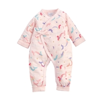 Girls' Mermaid Printed Kimono Style One Piece at Little-Minnows.com