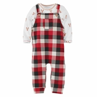 Mud Pie Buffalo Check Overall Boy 2-Piece Set at Little-Minnows.com