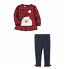 Mud Pie Santa Tartan Tunic & Legging Set at Little-Minnows.com