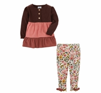 Corduroy Tunic and Legging Set at www.Little-Minnows.com