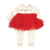 Christmas Girls' Best Gift Ever Red Tutu One-Piece at www.Little-Minnows.com