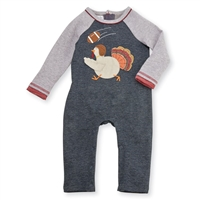 Turkey Football Raglan One Piece at www.Little-Minnows.com