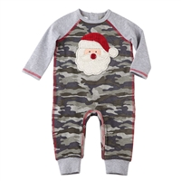 Christmas Camo Santa Baby Romper available at Little-Minnows.com