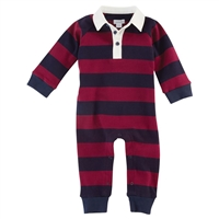 Boys' Rugby Striped One-Piece at little-minnows.com