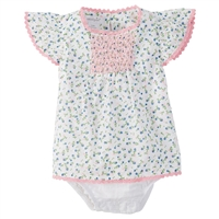 Floral Baby Girl Crawler at Little-Minnows.com