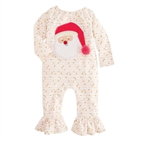 Baby Girl Christmas Alpine Santa Ruffle One Piece at www.Little-Minnows.com