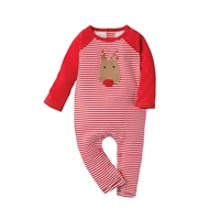 Mud Pie Crochet Reindeer Boy One-Piece at Little-Minnows.com