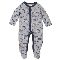 Baby Boys' Watercolor Whale Footed Sleeper at Little-Minnows.com