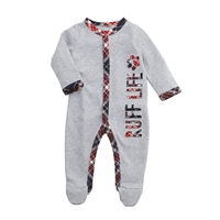 Baby Boys' Ruff Life Plaid Footed Sleeper at Little-Minnows.com