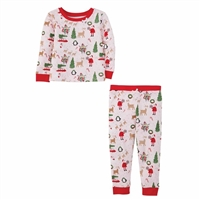Christmas Pajama Set at www.little-minnows.com