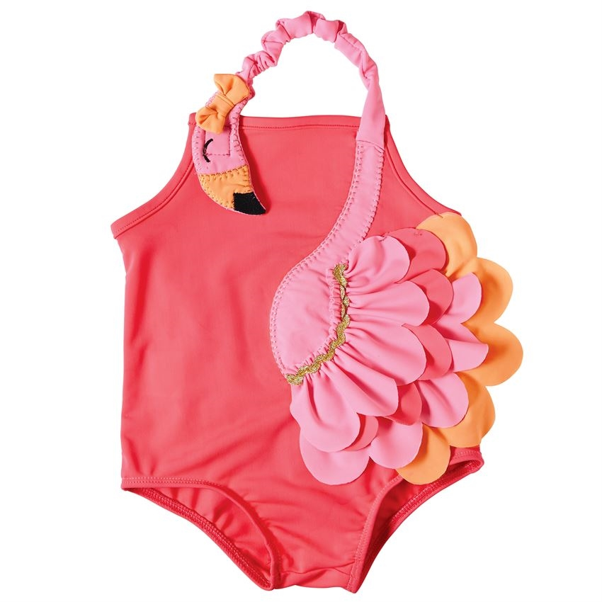 06cd2cb4cb379f Girl Flamingo Swimsuit One-Piece available at Little-Minnows.com