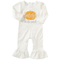 Cutest Pumpkin In The Patch One-Piece available at Little-Minnows.com