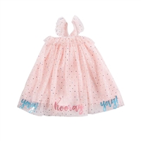 Pink Tulle Yay Party Dress available at Little-Minnows.com