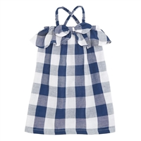 Girls' Gingham Bow Dress at Little-Minnows.com