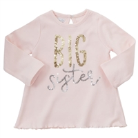 Pink Long Sleeve Big Sister Dazzle Tunic  at www.Little-Minnows.com