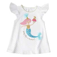 """Party Like A Mermaid"" Second Birthday Mermaid Tunic Little-Minnows.com"