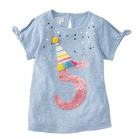 "Girls' ""Royal Fiveness"" Birthday T-Shirt"