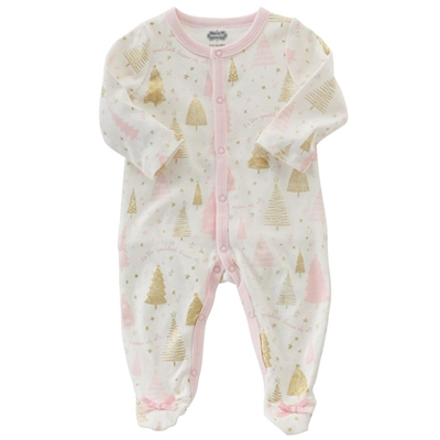 Season To Sparkle Pajama Sleeper at www.little-minnows.com