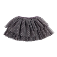 Girls'  Silver Mesh Tutu Skirt at Little-Minnows.com
