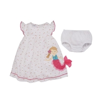 Girl Mermaid Dress with Bloomers available at Little-Minnows.com
