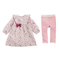 Girls' Forest Muslin Dress and Legging Set at Little-Minnows.com